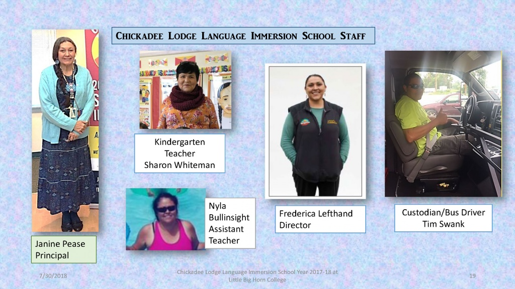 Chickadee Lodge, 2018 Report, Immersion School